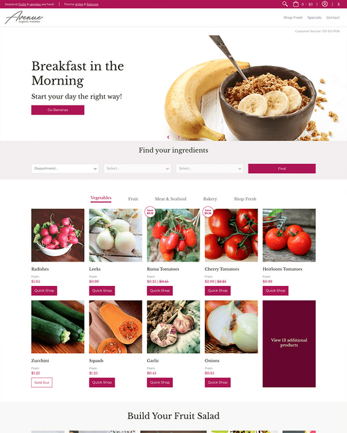Shopify Store Example by Elevate Digital